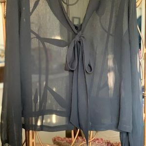 Covington Ladies Black Sheer Blouse